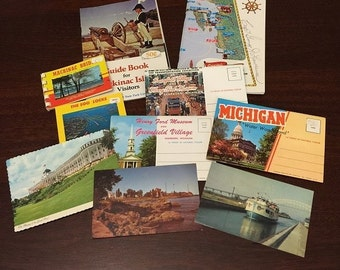 Vintage Travel Postcards, Booklets, Photo Books from Michigan