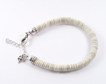 Tough knitt cord bracelet