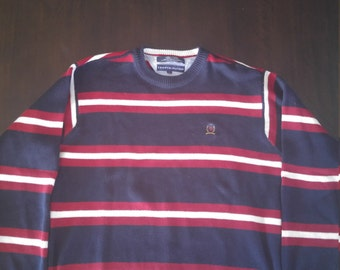 Tommy Hilfiger mens size Large striped sweater
