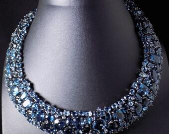 Blue Topaz (London Blue) Necklace