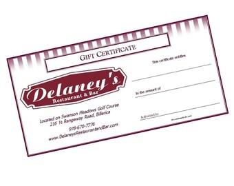 Custom Gift Certificates