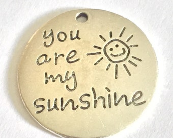 "3 ""You Are my Sunshine"" Oversized Charms"