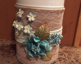 Floral Plastic container