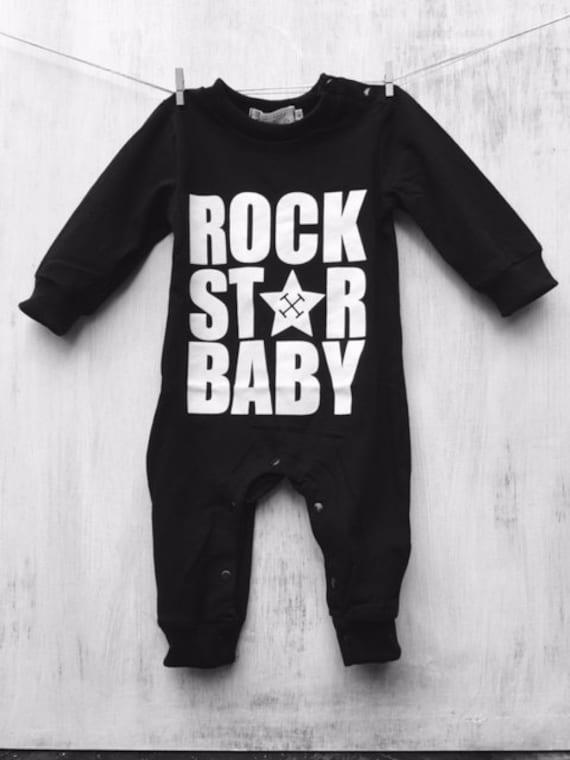 rock star baby romper outfit. Black Bedroom Furniture Sets. Home Design Ideas