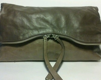 Kenneth Cole ReactionKenneth Cole Reaction Clutch Purse Leather Fold-over Brown