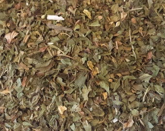 Peppermint leaf 2 cups dried peppermint leaf used in tea blends cosmetics perfumery bath herb blends soap making shampoo potpourris herbs