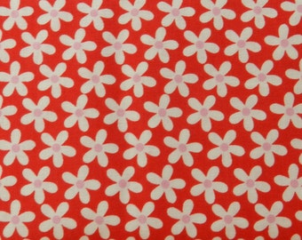 Red with white daisies Sweetcakes by Riley Blake fabric