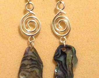 Paua Shell Abalone Earrings
