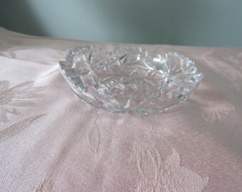 Vintage Small Crystal Bowl, Serving Bowl,Candy Dish