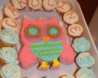 Owl Cake (CANNOT SHIP)