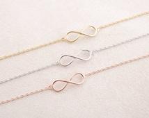 4 x infinity bracelet silver, infinity, infinity, bridesmaid gift, gift, love, eternity