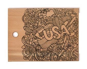 USA, Personalized engraved cutting board