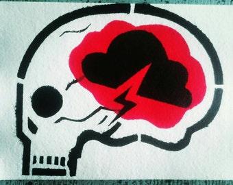 Brain storm eco postcard