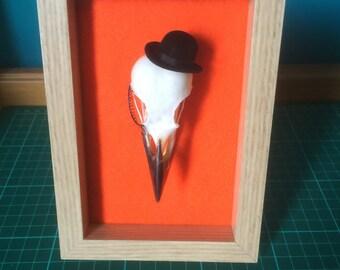 A Clockwork Inspired Crow Skull Frame