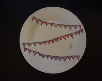 Union Jack Bunting Side Plate