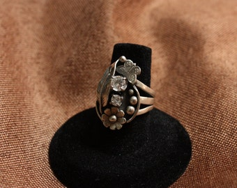 Silver Western Cubic Ring