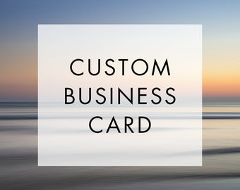 Custom Business Card Template - Digital Print Custom Personalized Layout