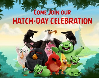 """Angry Bird """"Hatch-day"""" Invites"""