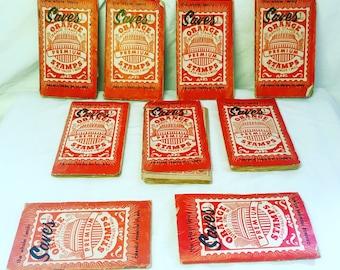Vintage Orange Premium Shopping Stamp Books