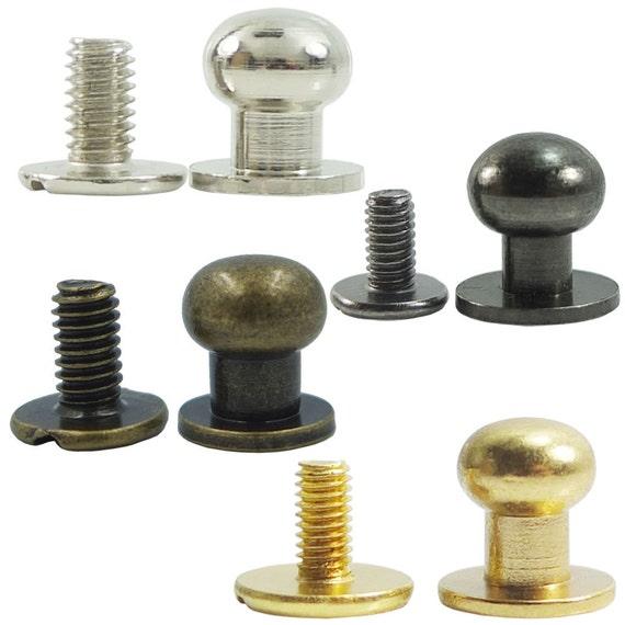 Sets head button mm brass stud screwback screw