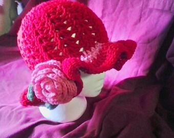Red spring hat