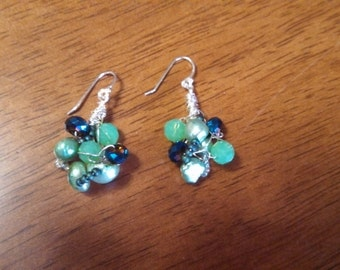 Wire crocheted earrings