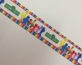 7/8 22mm Sesame Street Elmo grosgrain ribbon