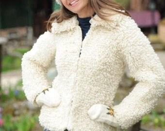 Women's 100% Woolen Handmade Short Jacket