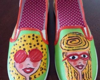 Hand Painted Shoes - Tiffany