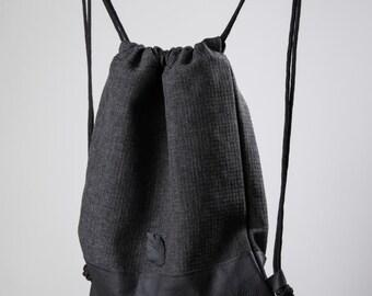 Feather Backpacks/ Drawstring Backpack/ Drawstring Bag