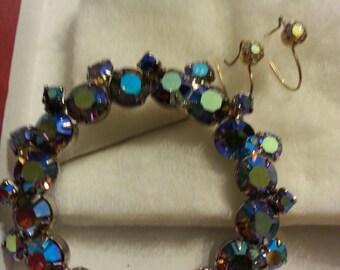 Vintage Brooch and earrings set 1950's