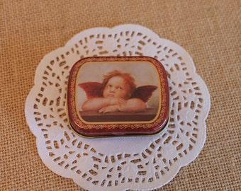 Cherub Gift Box ~ Pill Box ~ Tin Box ~ Sewing Box ~