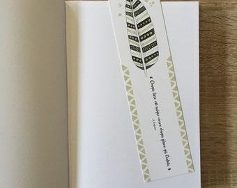 """Bookmark """"each book is unique"""" - pen"""