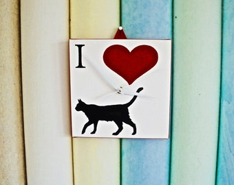 I Love Cats Clock