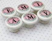 Girls Letter Knobs. Spell Your Baby's Name or Initials. Personalized Decor for Kids Playroom, Bedroom, or Nursery. Bulk Discounts Available