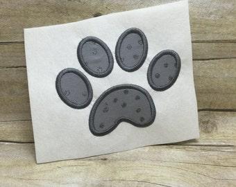 Paw Print Applique, Cat Paw Applique, Dog Paw Applique