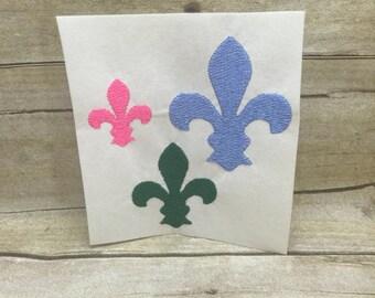 5 Sizes Fleur de Lis Embroidery Drsign, Small Fleur de Lis Embroidery Design