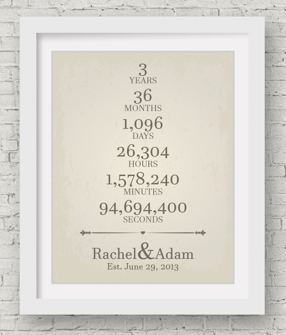 Wedding Anniversary Gifts By Year 3: Three Year Anniversary 44 Year Wedding Anniversary Gift