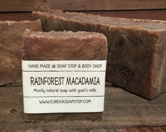Rainforest Macadamia Handmade Hot Process Soap - One Bar