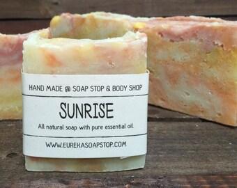 Handmade All Natural Hot Process Sunrise Citrus Soap - One Bar