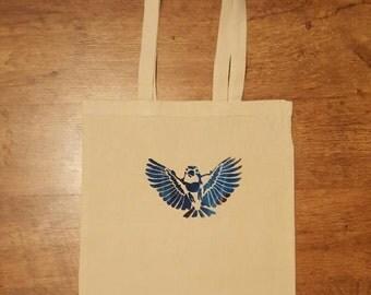 Bird Screen printed tote bag