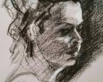 Personal charcoal portraits and drawings