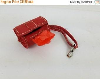 Leather dog poop bag