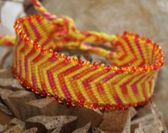 Friendship Bracelet with beads