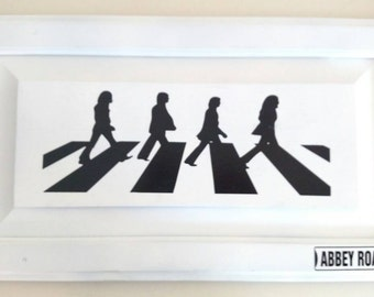 Beatles picture Abbey road,Beatles picture, beatles Abbey road pictures,Abbey road,upcycled wooden picture, Beatles,