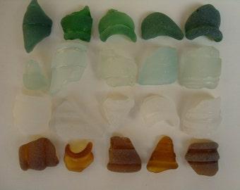 Vintage bottle necks, 20 pieces-Sea glass bottle necks-craft supplies-# 029