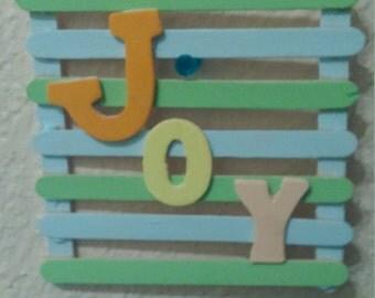 "Wall hanging "" joy"""