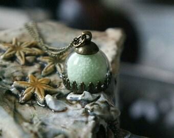 SALE 50% OFF antique bronze glass dome chain noctilucent