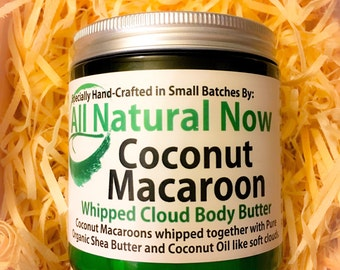 Sweet Coconut Macaroon Whipped Body Butter | Pure & Organic |