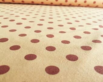 50 cm beige/Brown dots Jersey